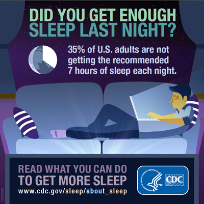 Centers for Disease Control and Prevention sleep image